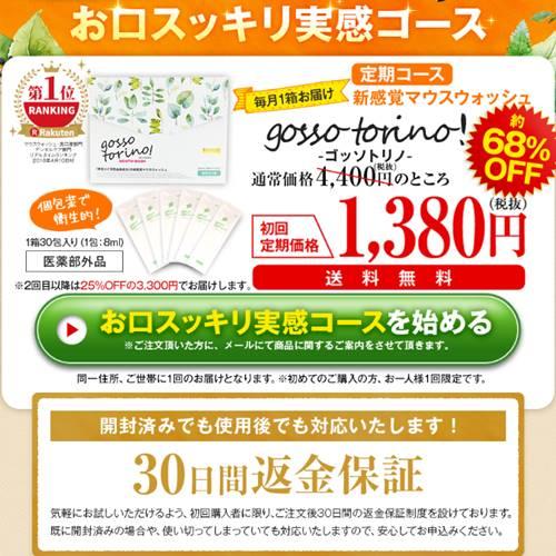 ゴッソトリノ公式サイト価格