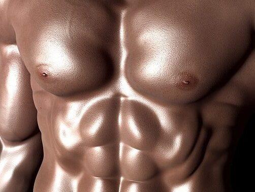 筋肉ムキムキのボディー